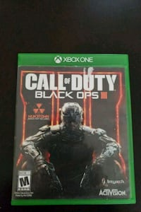 Xbox One Call of Duty Black Ops 3 game case La Quinta, 92253