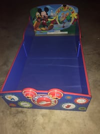 Mickey Mouse Toddler Bed. New Good Condition