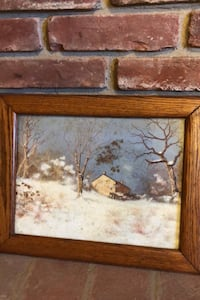 Winter Landscape Painting unsigned Rockville, 20853