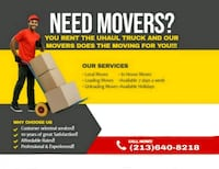 MOVERS AVAILABLE NOW LOADING UNLOADING PACKING   Atlanta