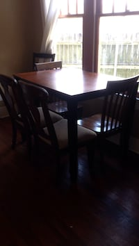 rectangular brown wooden table with six chairs dining set Lafayette, 70501