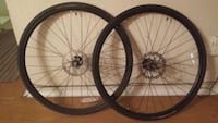 two black bicycle wheels with tires Winnipeg, R3C 4A5