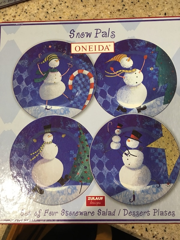 Used Christmas Dessert Plates And Mugs For Sale In Methuen Letgo