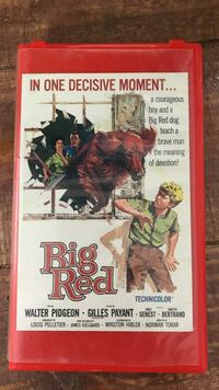 Big Red VHS.  Cover excellent  Puckett, 39042
