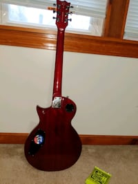 red and black electric guitar Worcester, 01604