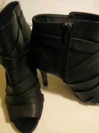 pair of black leather boots Bloomingdale, 31302