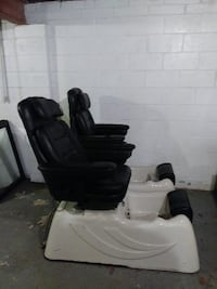 Large spa pedicure chairs all working parts