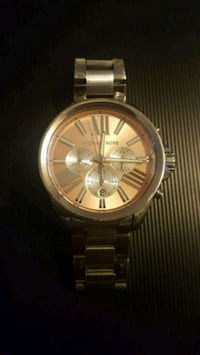 Silver Michael Kors Watch with light pink face Holiday
