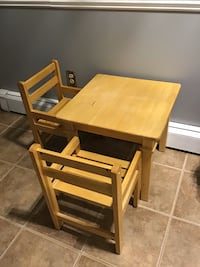 All wood toddler table and chair set.  Dartmouth, B2V 1Y8
