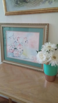 Painting with flower arrangement