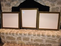 3 Custom picture frames - ornate, raised pattern, patina with gold - $50 each Parker
