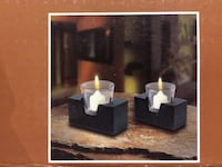 Set of 2 candle holders , BRAND NEW only opened for pictures Ajax, L1T 0A9