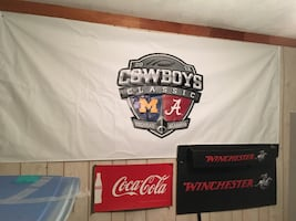 The actual banner from the cowboys classic