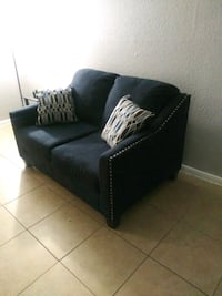 Two piece navy blue sofa and love seat  Houston