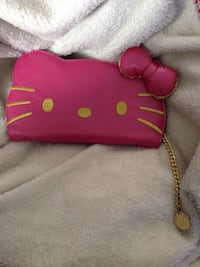 pink and brown leather wristlet Kitchener, N2G 1L7