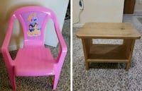 two pink wooden side tables Overland Park, 66223