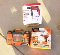Cordless drill and drill bit set with hammer drill Calgary, T3C 0Y1
