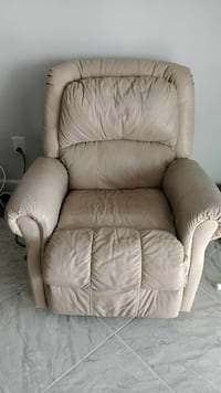 beige leather recliner sofa chair Parrish, 34219