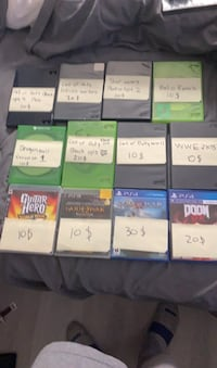 Games for sale 190 for all if you pick it up 90 bucks for all games