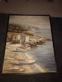 brown wooden framed painting of house near body of water Rockville, 20850