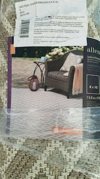 Indoor and out door brand new rug size is 8x10 really good price  Bristow
