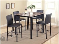 5pc counter height set brand new