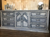 Grey solid Dresser and nightstand
