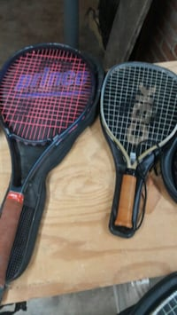 two black and red tennis rackets Weber City, 24290