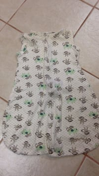 white, brown, and green monkey print sleepsack Brant, N3T 0L1