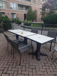 4 Chairs and 3 tables patio furniture Toronto, M4T 1Y1