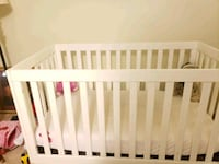 baby's white wooden crib Bowie, 20720