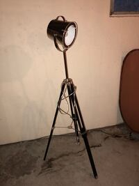 Tripod floor lamp (black and stainless steel) Liberty, 12754