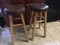 two brown wooden bar stools Woodbridge, 22193