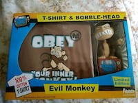 Evil monkey limited edition t-shirt and bobblehead Mississauga, L4X 2V8