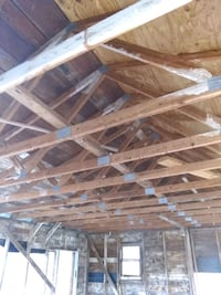 Barn Rafters and shingled roof