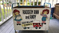 White Raggedy Ann and Andy  toy box old Warwick, 02889