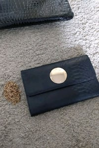 Side body purse with gold chain