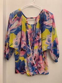 blue, yellow, and pink floral dress shirt Boise, 83716