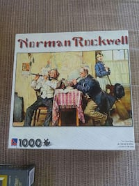 Norman Rockwell 1000 pieces jigsaw puzzle box 3725 km