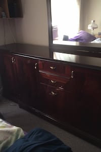Long dresser cherry wood with mirror 8 foot  Mississauga, L5C 3V7