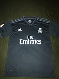 black and white Adidas Fly Emirates jersey shirt Dallas, 75227