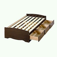 brown wooden slatted bed frame Glenarden, 20774