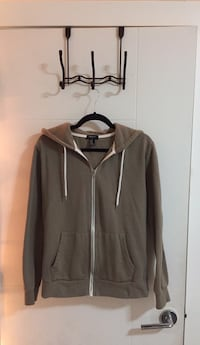 Brown/Cream zip-up hoodie no stains  White Rock, V4B 4Y7