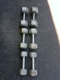 two gray fixed weight dumbbells London, N6G 5K9