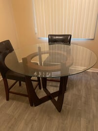 Glass dining table round Weston, 33331