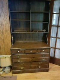 Tall antique sideboard