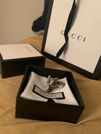 GUCCI - Anger Forest Wolf Head Ring in pure sterling silver! Rockville, 20852