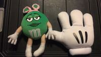 Miss girl doll of m and m color green and trim with pink ear also glove  North Las Vegas, 89030