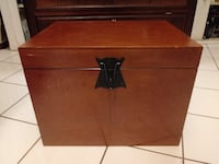 Wooden Hanging File Box - Small trunk
