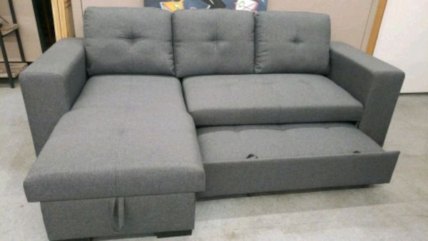 Groovy Gray Sofa Chaise With Pull Out Bed Chase Storage Cjindustries Chair Design For Home Cjindustriesco